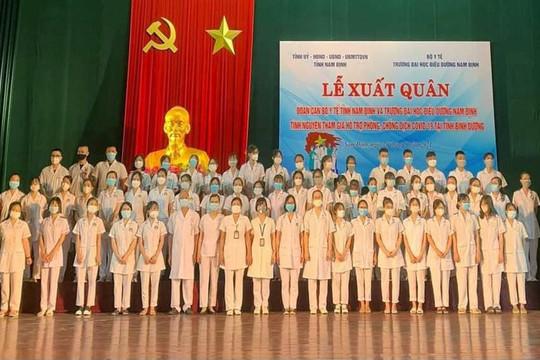 Nam Định: 113 cán bộ y tế và tình nguyện viên lên đường tham gia chống dịch tại Bình Dương