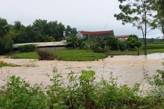 Mưa lớn khiến nhiều địa bàn của Thái Nguyên  bị ngập sâu