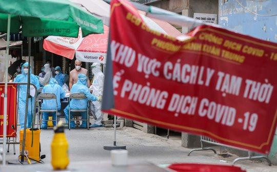 Trưa 26/8, Hà Nội thêm 33 ca mắc Covid-19 mới, trong đó có 23 ca tại cộng đồng