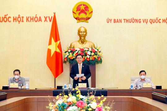 Chủ tịch Quốc hội làm việc với Tổ công tác của UBTVQH về phòng, chống dịch Covid-19