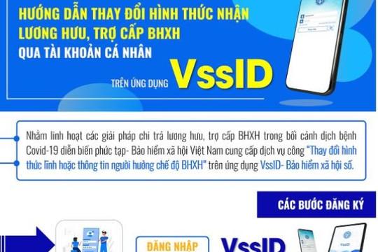 Cách đăng ký thay đổi hình thức nhận lương hưu, trợ cấp BHXH trên ứng dụng VssID
