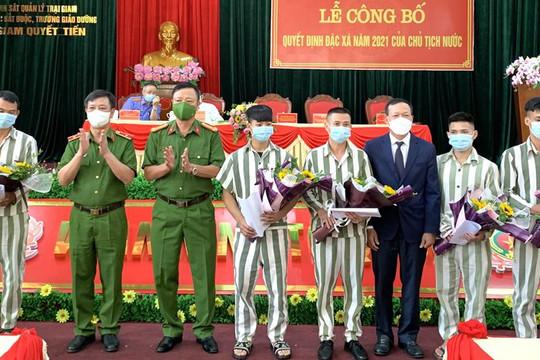 Phó Chánh án TANDTC Nguyễn Trí Tuệ dự Lễ công bố quyết định đặc xá của Chủ tịch nước