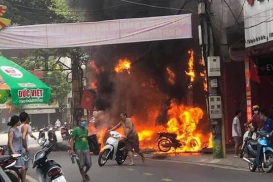 Cháy lớn ở Vĩnh Phúc, 4 cơ sở kinh doanh thiệt hại nặng