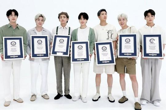 BTS chính thức ghi danh trên Đại sảnh danh vọng của Kỷ lục Guinness
