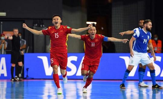 Đội tuyển futsal Việt Nam thua đậm Brazil 1-9