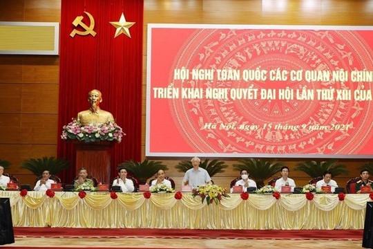 Hội nghị toàn quốc các cơ quan nội chính triển khai Nghị quyết Đại hội lần thứ XIII của Đảng