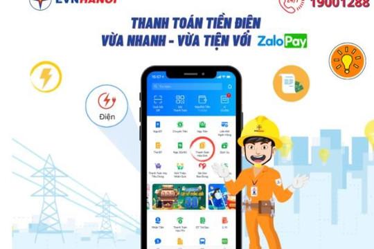 EVNHANOI phối hợp cùng ZaloPay cung cấp tính năng thanh toán hóa đơn điện
