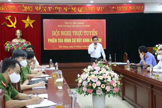 Bắc Giang: Tổ chức Hội nghị trực tuyến phiên toà hình sự rút kinh nghiệm
