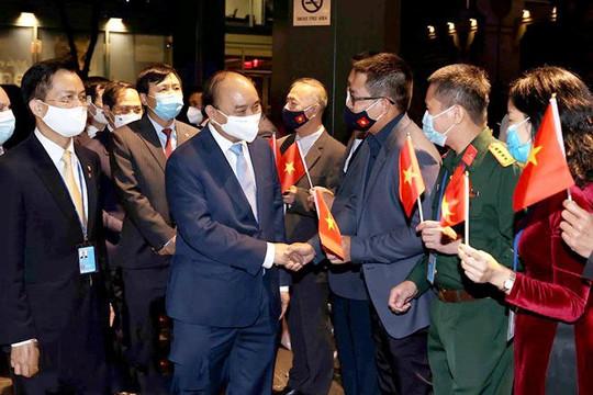Chủ tịch nước Nguyễn Xuân Phúc tới Mỹ, bắt đầu tham dự chương trình Đại hội đồng LHQ