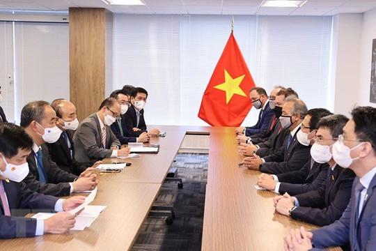 Chủ tịch nước Nguyễn Xuân Phúc tiếp các hiệp hội, nhà đầu tư Hoa Kỳ