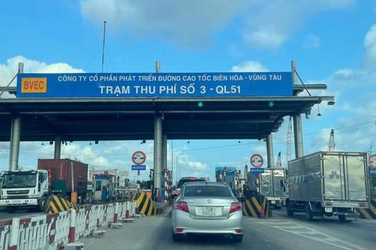 Từ 0 giờ ngày 24/9, Trạm T3- Quốc lộ 51 Bà Rịa -Vũng Tàu thu phí trở lại