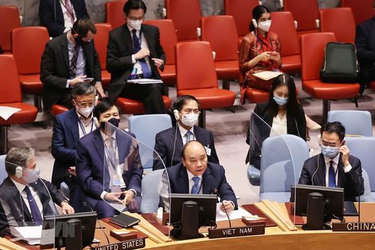 Chủ tịch nước đưa ra 3 nhóm giải pháp tại Phiên họp cấp cao của HĐBA LHQ về an ninh khí hậu
