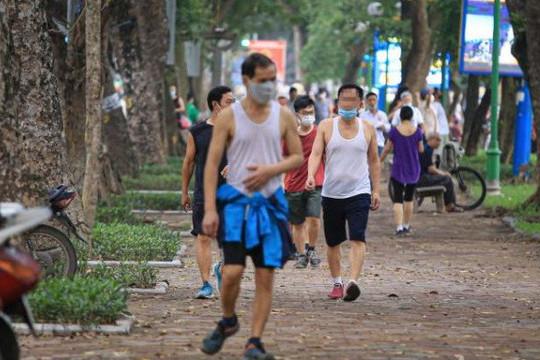 Hà Nội tiếp tục nới lỏng, người dân được tập thể dục ngoài trời