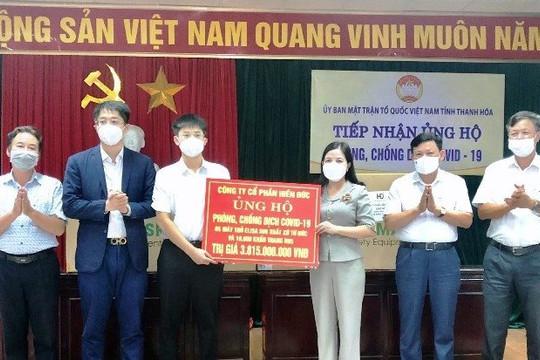 Nhiều doanh nghiệp ủng hộ thiết bị y tế hỗ trợ công tác phòng, chống dịch cho tỉnh Thanh Hoá