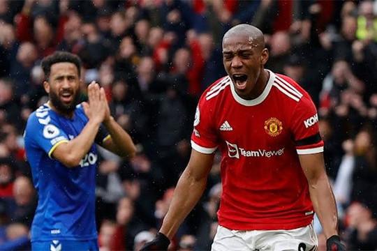 Martial thông nòng sau 8 tháng, MU vẫn bị Everton cầm hòa