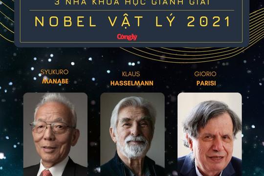 Infographic: 3 nhà khoa học nhận giải Nobel Vật lý 2021