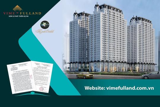 Chung cư cao tầng HH3, dự án The Jade Orchid mang thương hiệu Vimefulland chính thức đủ điều kiện bán hàng