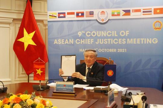 Hội nghị Hội đồng Chánh án các nước ASEAN lần thứ 9 ra Tuyên bố Jakarta