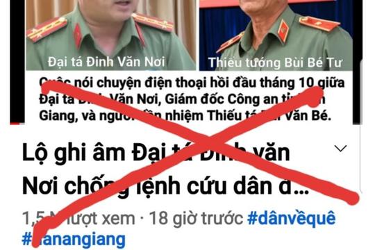 Khởi tố vụ án cắt ghép ghi âm, xuyên tạc về Đại tá Đinh Văn Nơi