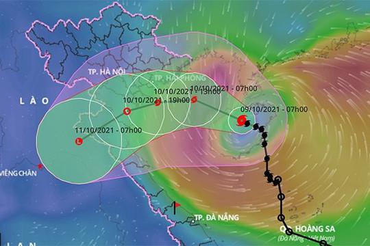 Bão số 7 đang hướng vào đất liền, Bắc Bộ và Bắc Trung Bộ có mưa to đến rất to