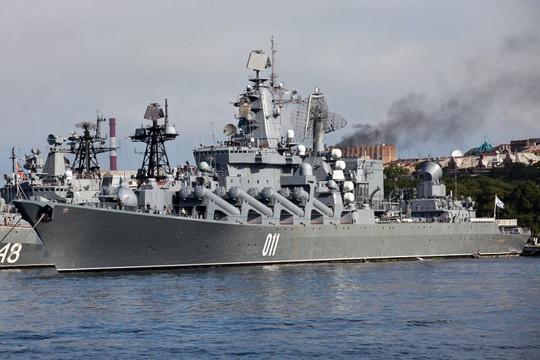 Tàu chiến Hải quân Nga bắn 10 tên lửa ở Biển Nhật Bản
