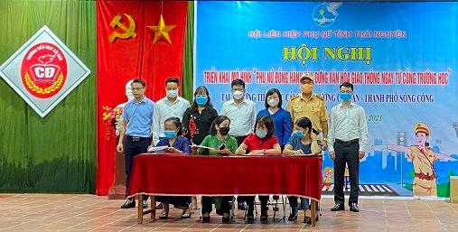 """Thái Nguyên: Hội nghị triển khai mô hình """"Phụ nữ đồng hành xây dựng văn hóa giao thông ngay từ cổng trường học"""""""