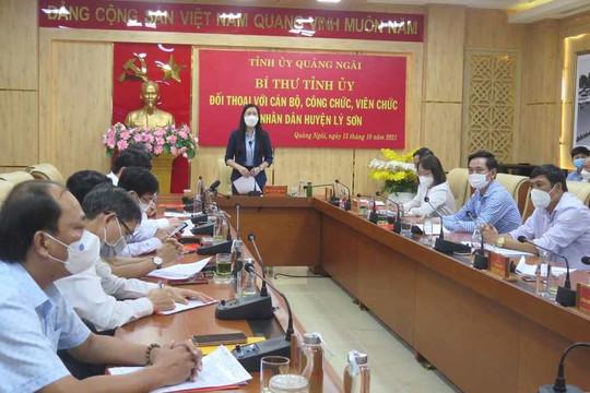 Quảng Ngãi: Bí thư Tỉnh ủy đối thoại chính sách với 80 cán bộ, nhân dân đảo Lý Sơn
