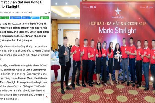 """Quảng Ninh: Dự án rao bán trái phép, tổ chức họp báo """"chui"""""""